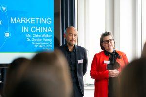 Dr. Gordon Wong, Media Director & Claire Walker, PR Director von techworks asia. Bild: Ruess Group