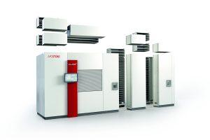 Der Einlagerungsautomat Cube+ von Apostore zeichnet sich durch seine Modularität, kompakte und robuste Bauweise sowie die hohe Leistungsfähigkeit aus.