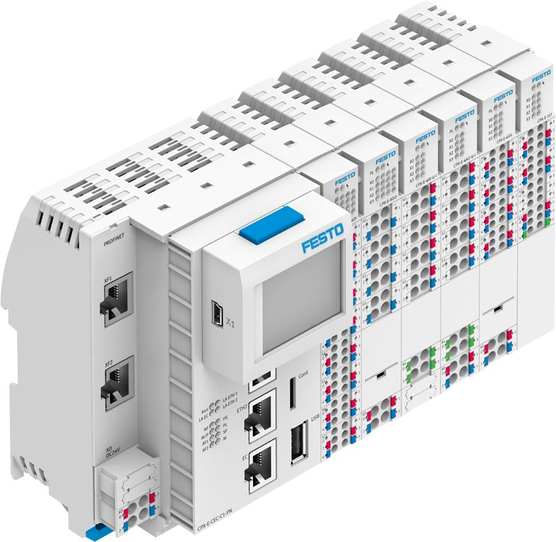 Das modulare CPX-E Automatisierungssystem. (Bild: Festo)