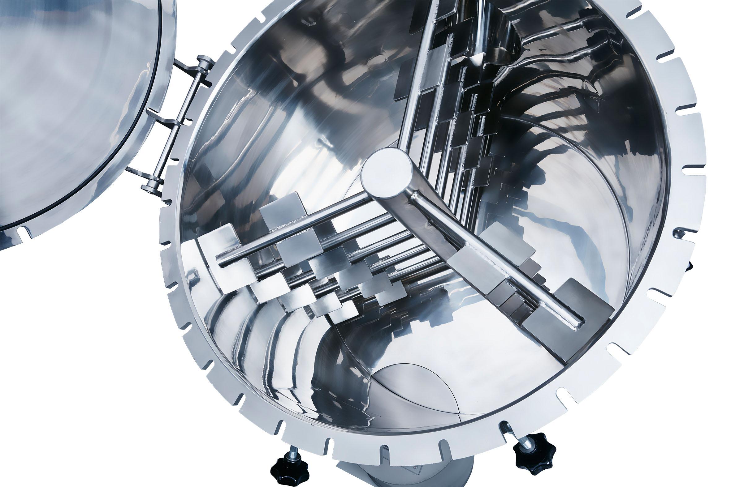 Die rotierende Mischwerkzeug des neuen Schüttgutmixers von Coperion