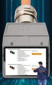 Im neuen Connector-Shop von Igus kann sich der Kunde jetzt direkt ab Lager und Losgröße 1 den passenden Stecker für seine Leitung bestellen. Bild: Igus