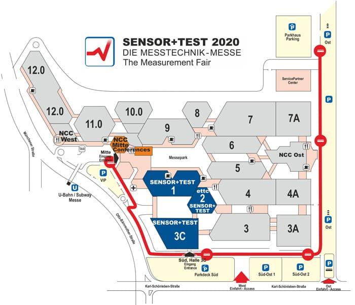 SENSOR+TEST Hallenplan