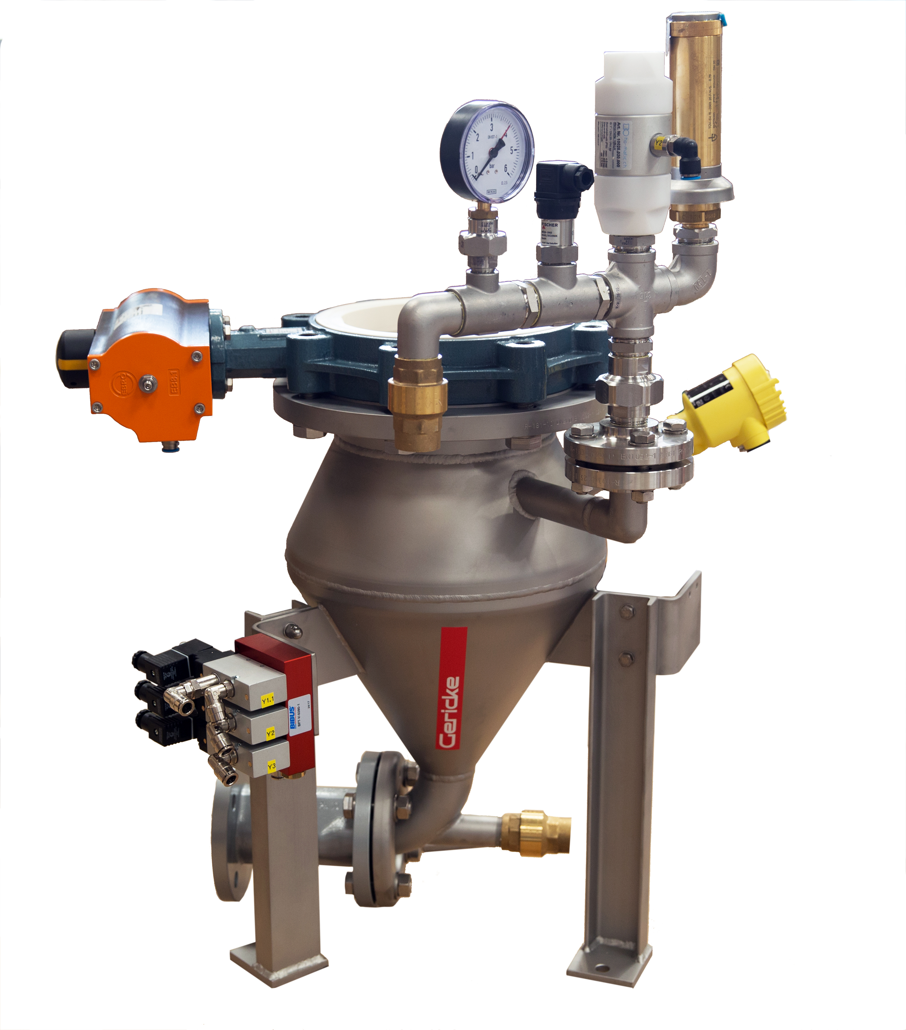 Für geringe Bauhöhen: Pneumatisches Dichtstrom Fördersystem PTA/PHF 20