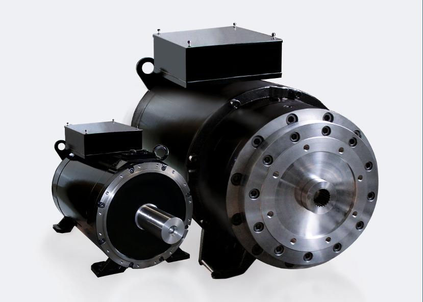 Die High-Torque-Motoren der Reihe DST2 können mit einem Drehmoment bis 75.000 Nm eine effiziente Alternative zu Hydraulikantrieben darstellen.