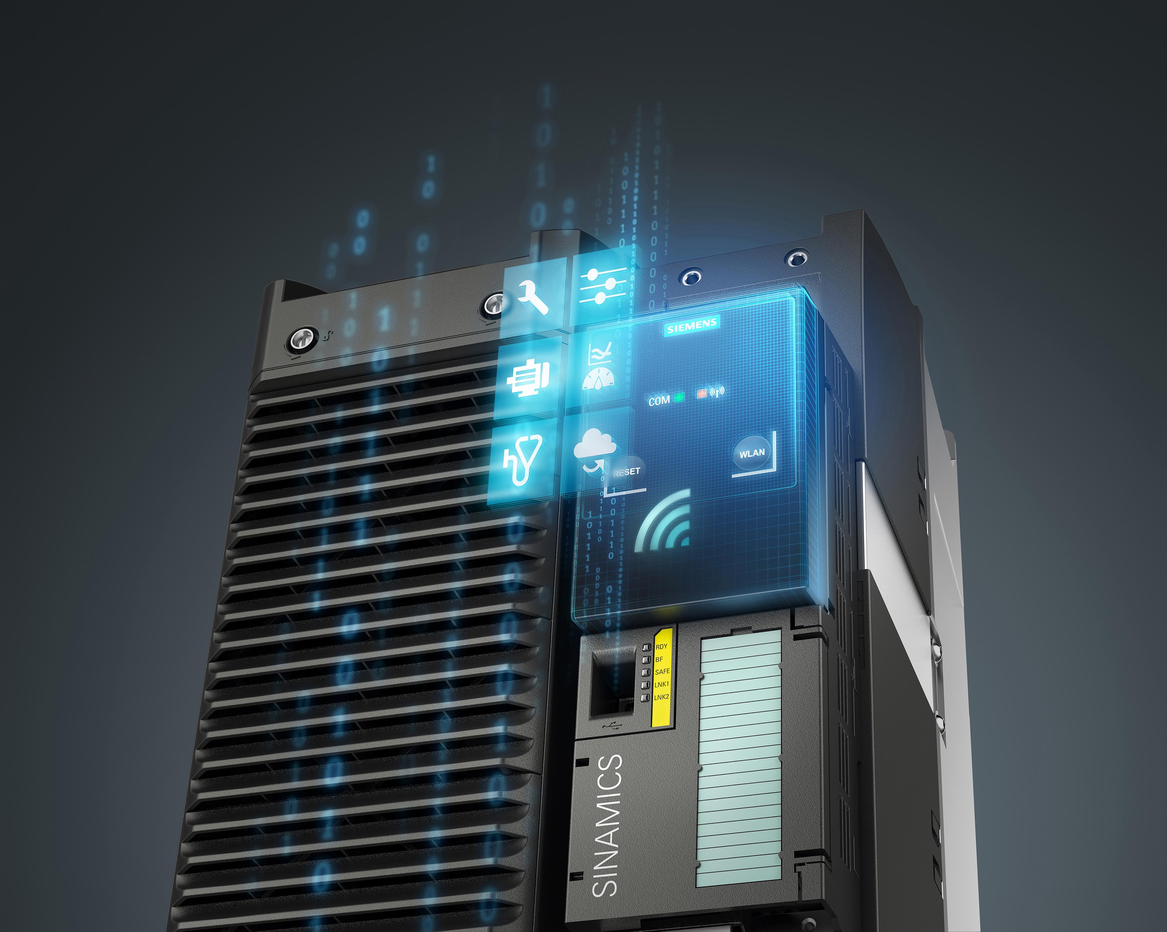 Siemens erweitert das Portfolio der Sinamics G120-Umrichterreihen um eine Option für die drahtlose Inbetriebnahme, Diagnose und Service. Mit dem neuen G120 Smart Access Module können Mobilgeräte wie Tablet, Smartphone oder Laptop kabellos via Wi-Fi mit den Umrichtern Sinamics G120, Sinamics G120C und Sinamics G120P verbunden werden.