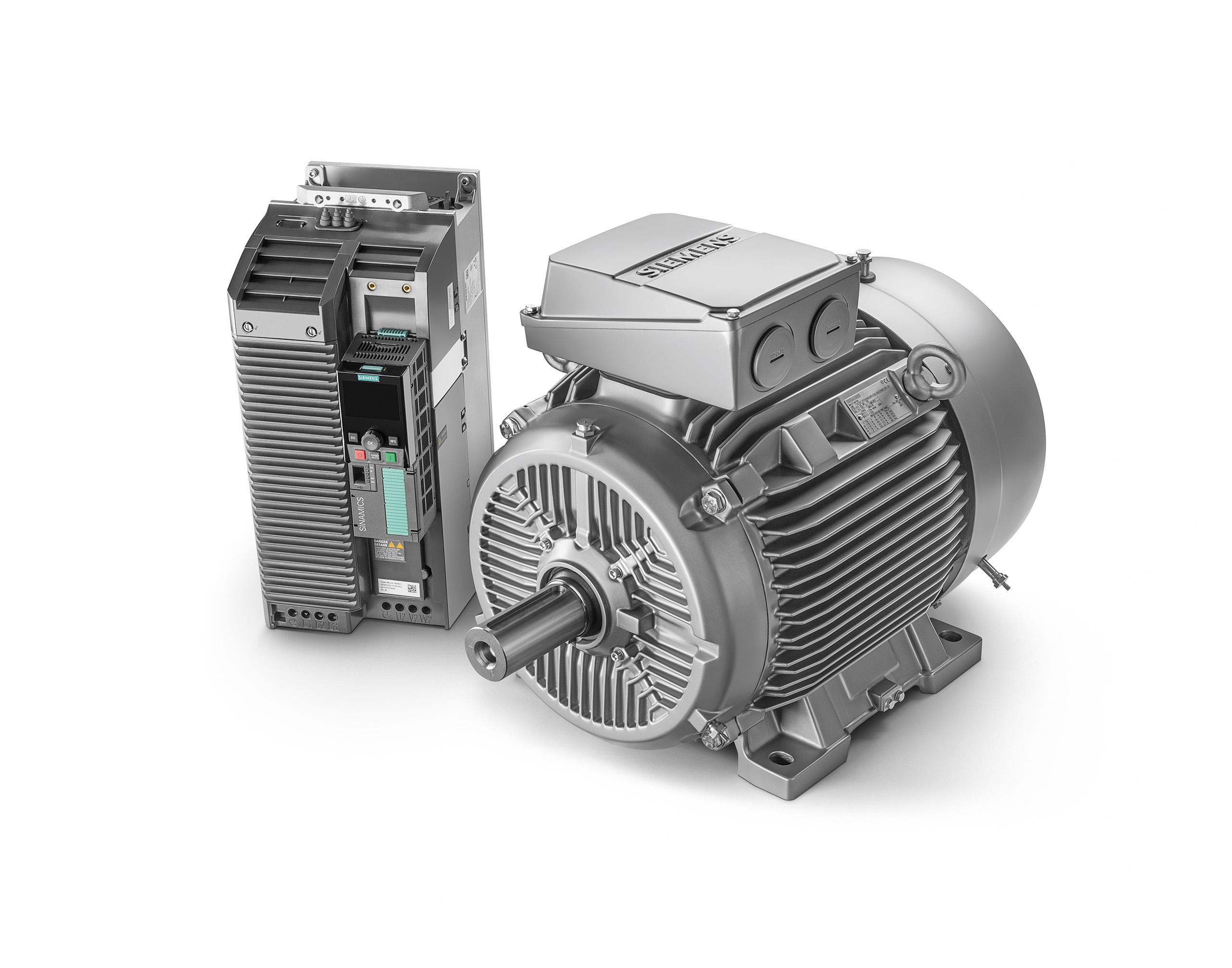 Das optimal aufeinander abgestimmte System aus Umrichter Sinamics G120 und Simotics Synchronreluktanz-Motor ermöglicht die optimale Regelung von Pumpen, Lüftern und Kompressoren.