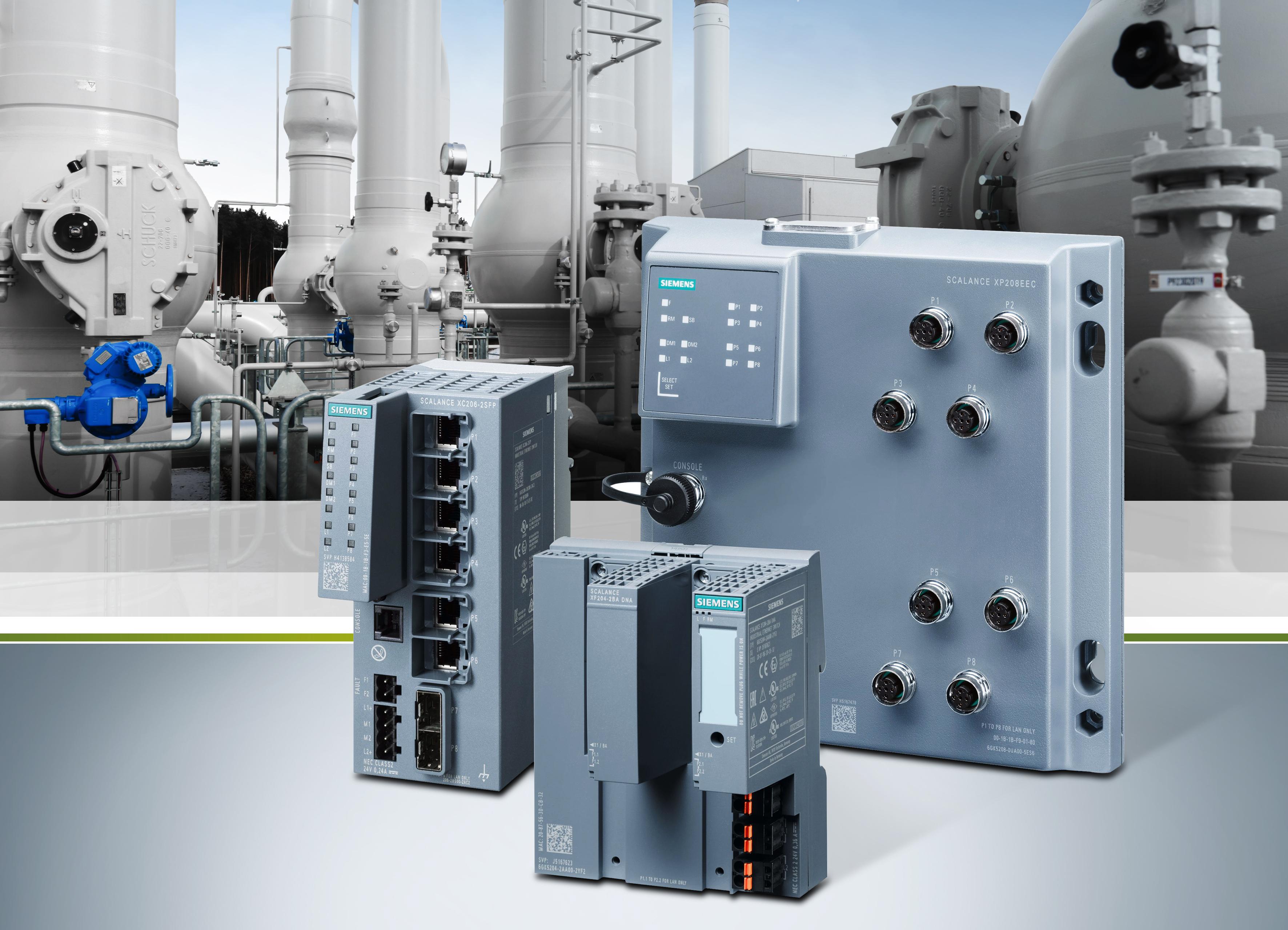 Siemens bringt neue Varianten von Industrial Ethernet Switches auf den Markt. Die neuen Produkte eignen sich durch ihre Firmware-Funktionen im Zusammenspiel mit dem Prozessleitsystem Simatic PCS 7 zur flexiblen, zuverlässigen und performanten Vernetzung von Geräten der Prozessautomatisierung.