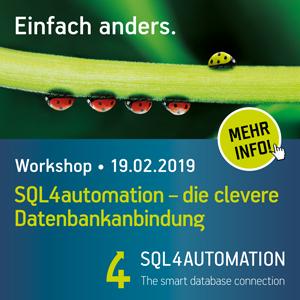 Inasoft SQL4automation – die clevere Datenbankanbindung