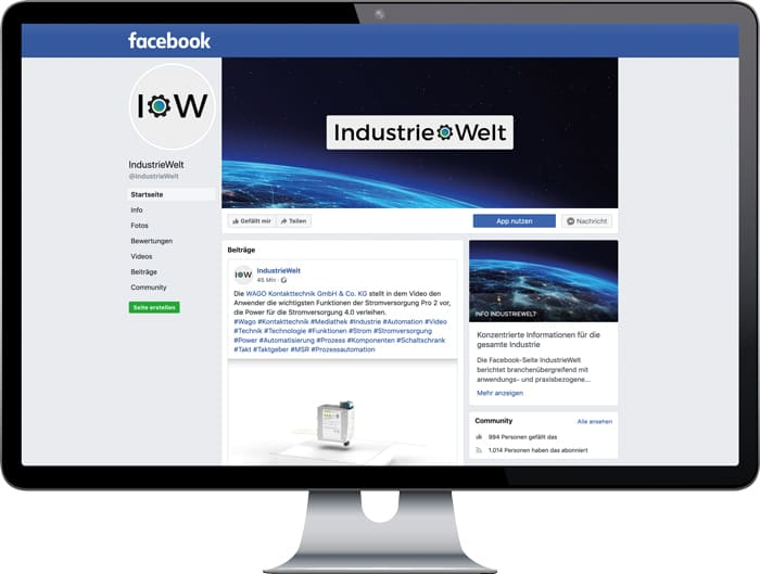 IndustrieWelt Facebook