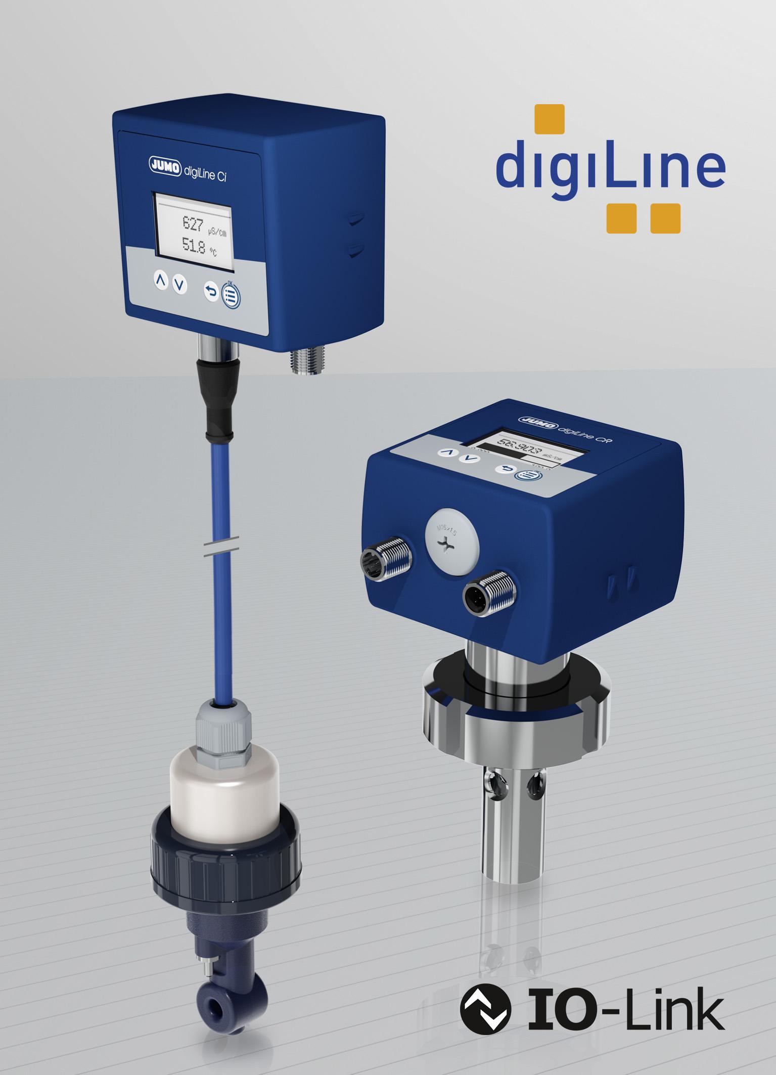 Das Jumo digiLine-System wird um digitale Sensoren zur Messung der elektrolytischen Leitfähigkeit ergänzt.