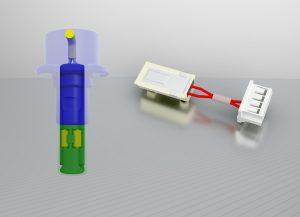 Jumo plastoSens-Sensoren für Premium-Trockner (links) und –Waschmaschinen (rechts).