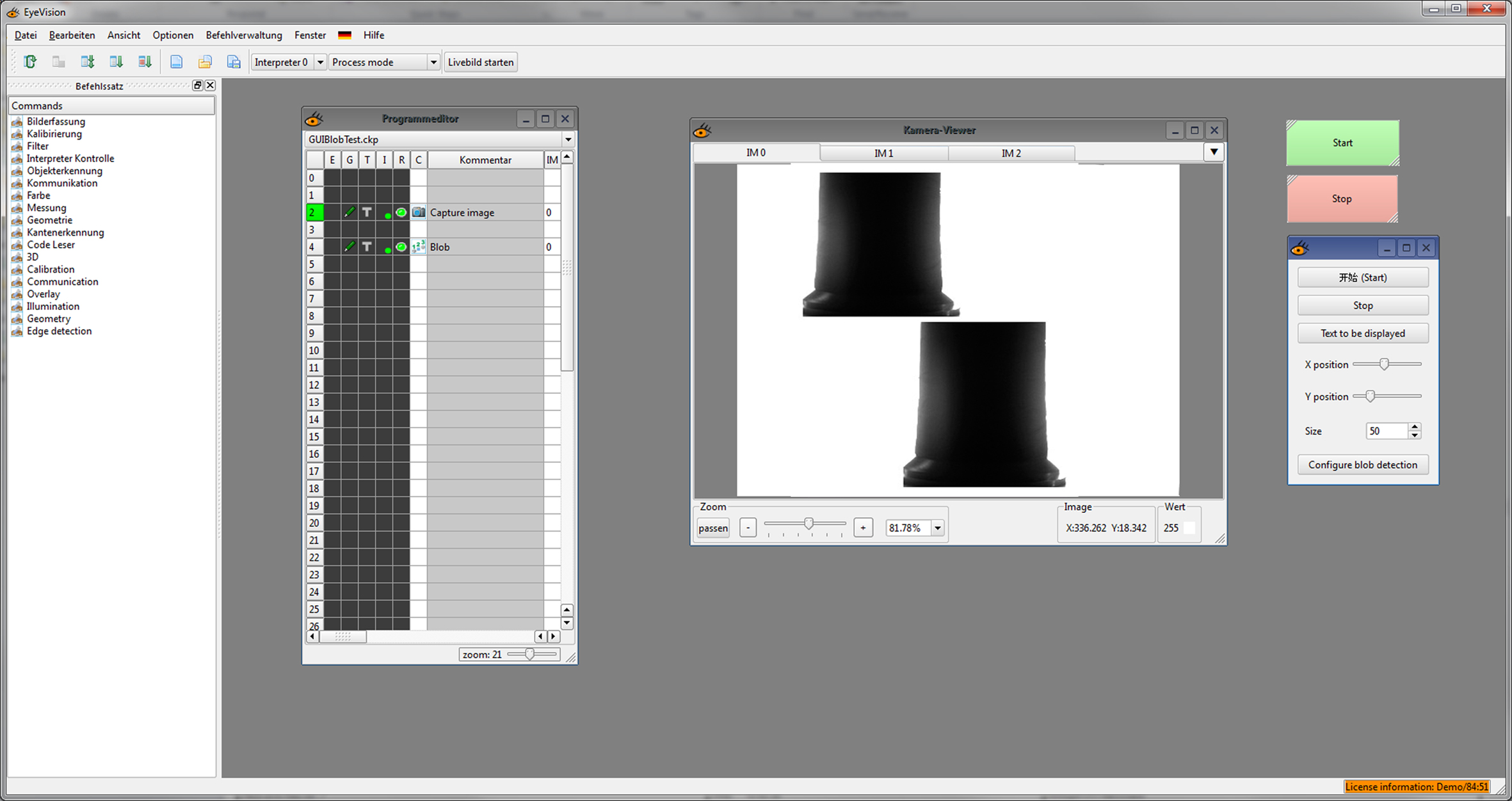 EyeVision jetzt mit PLC-Link Unterstützung