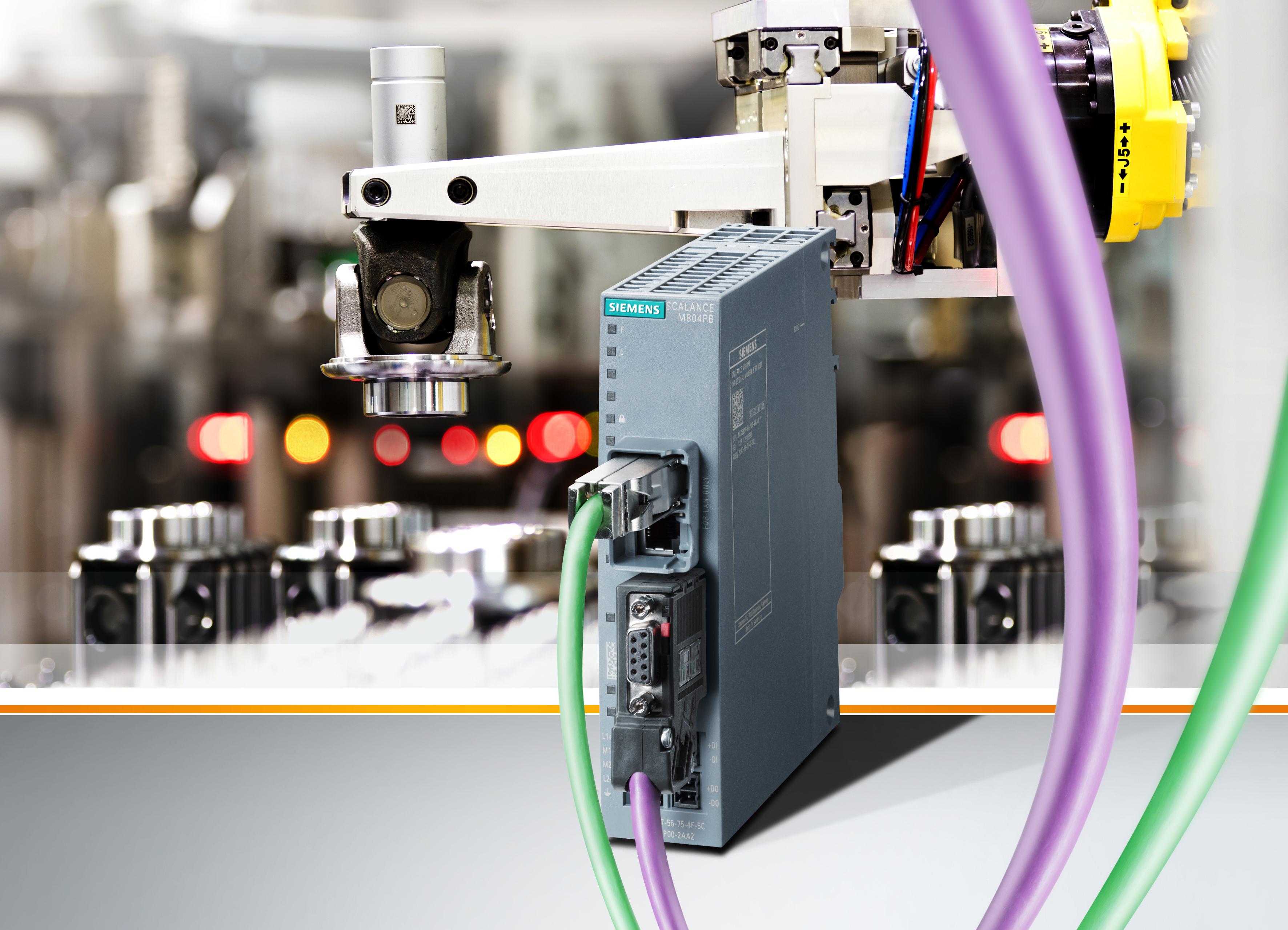 Siemens erweitert sein Portfolio an Industrie-Routern mit dem Scalance M804PB. Dieser ermöglicht den Anschluss von Maschinen und Anlagen (zum Beispiel mit Simatic S7-300/S7-400) über Profibus/MPI an Ethernet-Netzwerke.