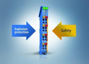 Die neuen ELX-Klemmen mit TwinSafe-SC-Technologie ermöglichen hochkompakte Safety-Lösungen in explosionsgefährdeten Bereichen. Bild: Beckhoff Automation