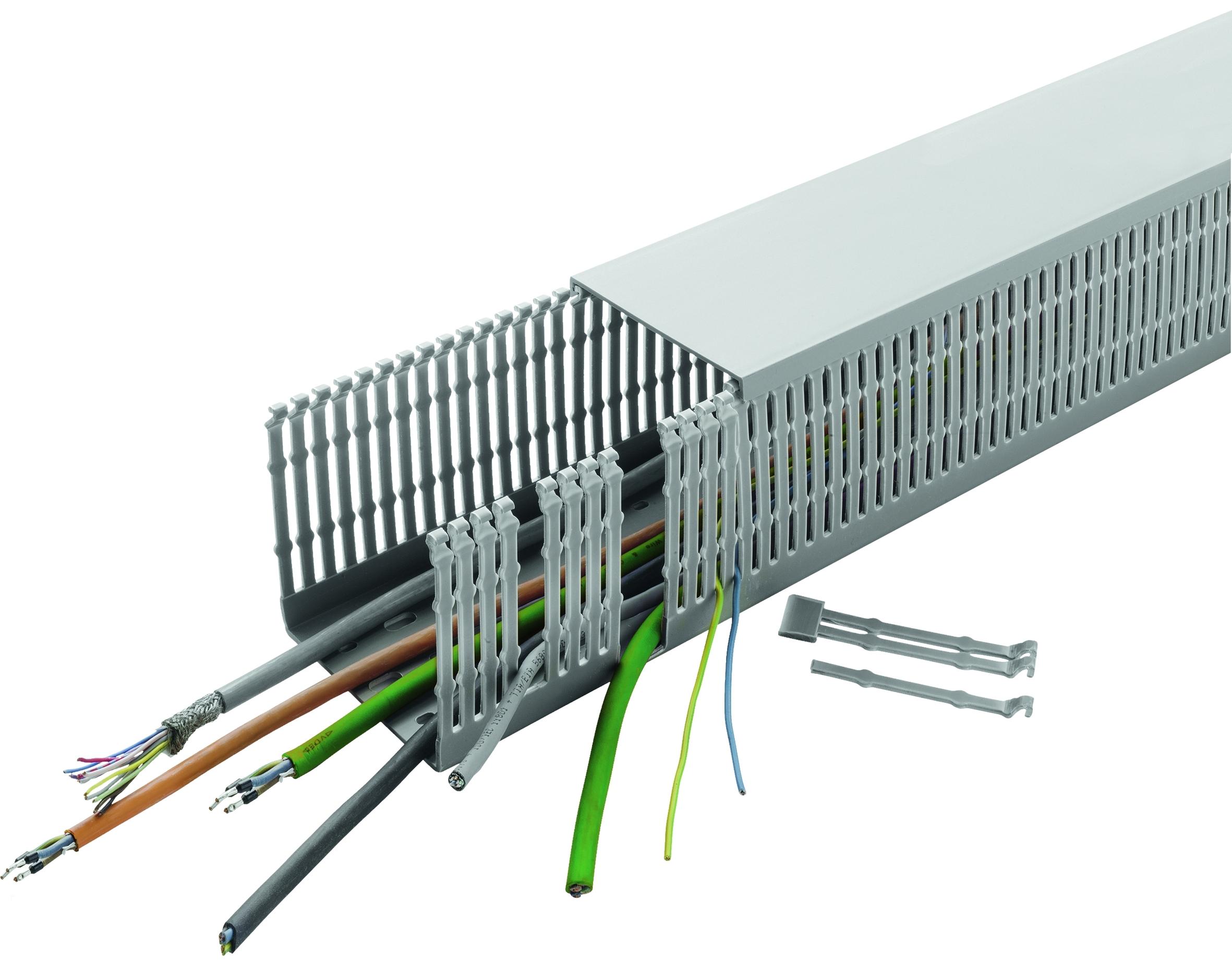 Hohe Formstabilität, einfache Konfektionierung: UL- und VDE-zertifizierte Verdrahtungskanäle von Conta-Clip